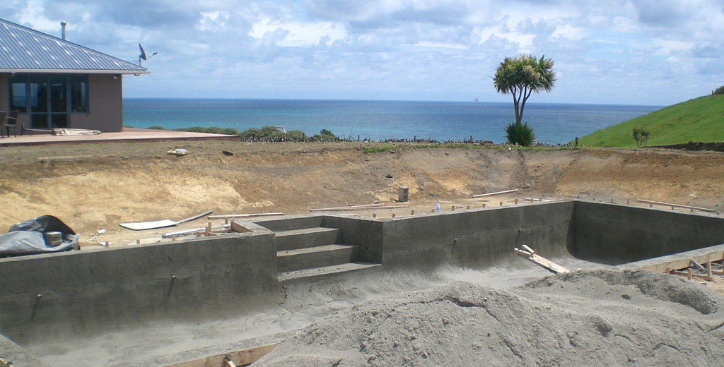 Building A Concrete Pool : General construction concrete swimming pool photo