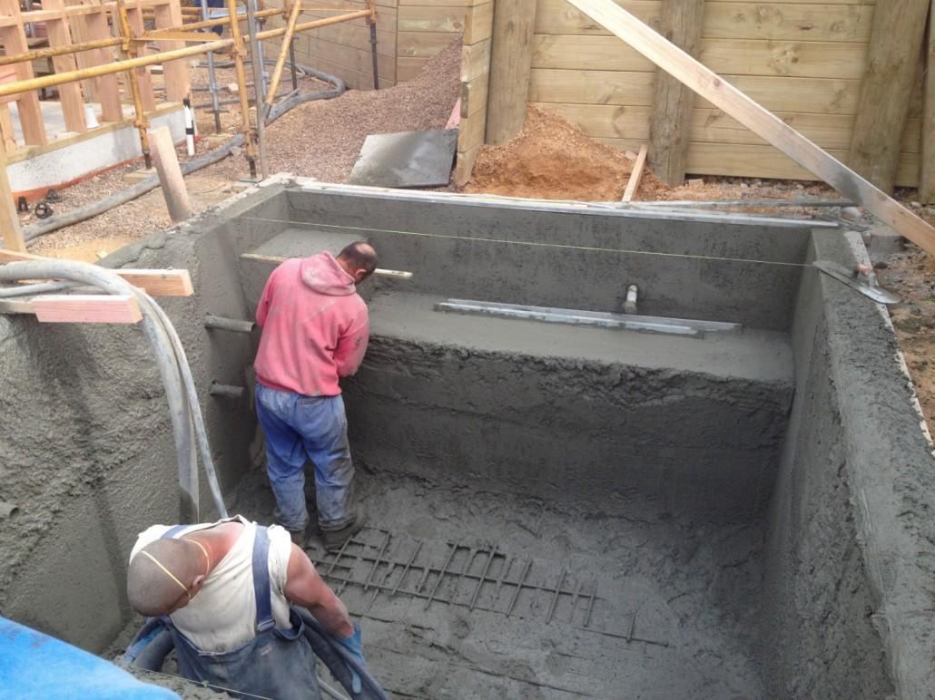Concrete Pool Construction : General construction concrete swimming pool photo