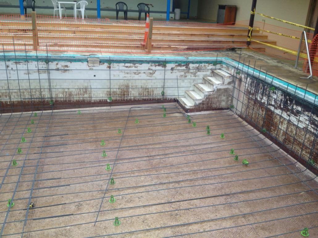 Swimming Pool Restorations : Parakai auckland swimming pool refurbishment