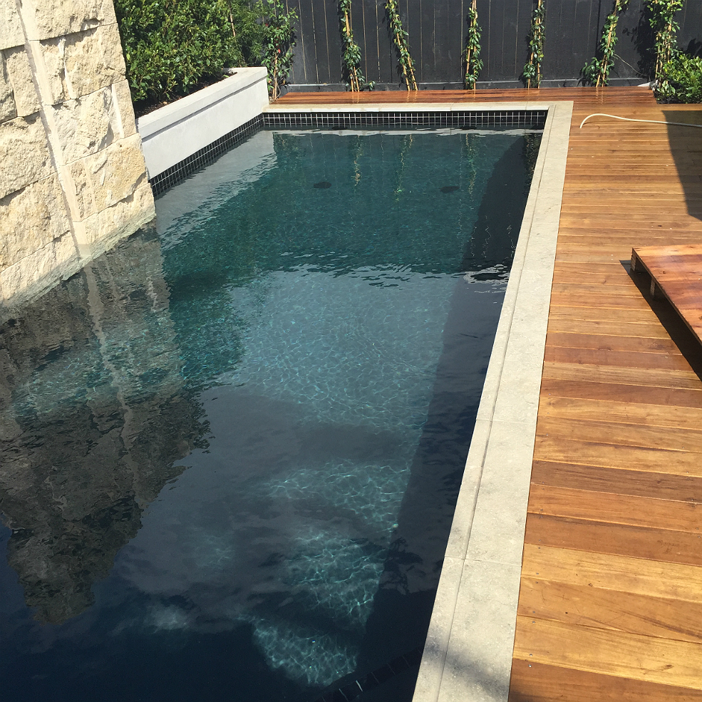 Black swimming pool project concrete pool systems for Pool design auckland