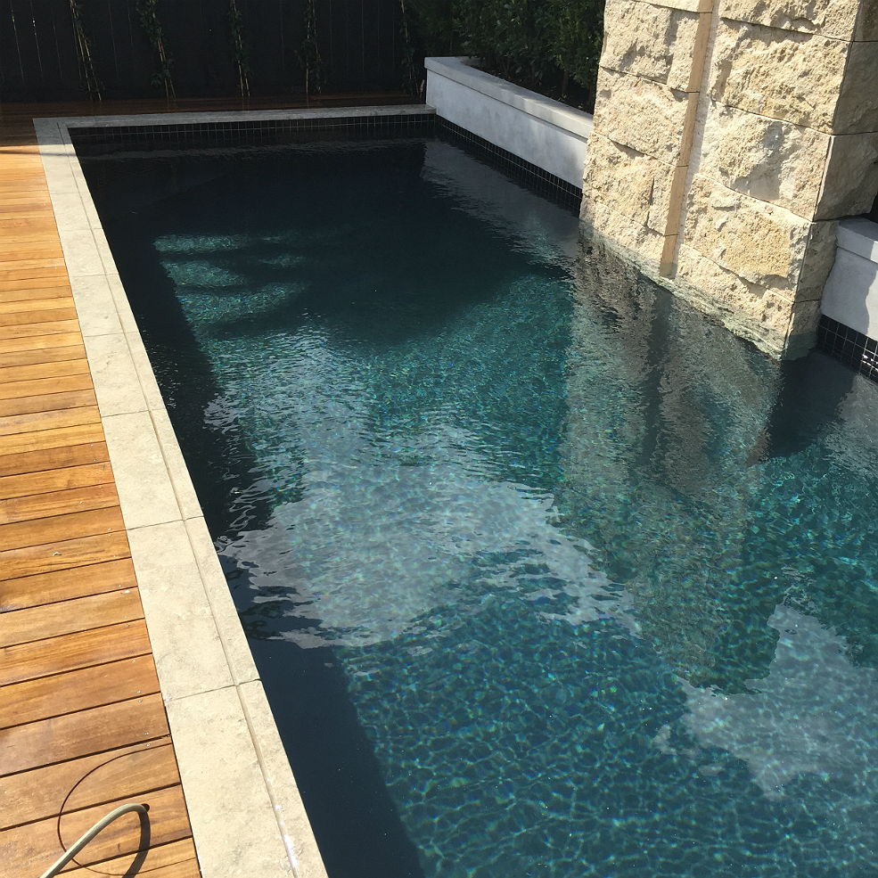 Black Swimming Pool Project Concrete Pool Systems